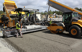 Строительство (устройство) бетонных дороги